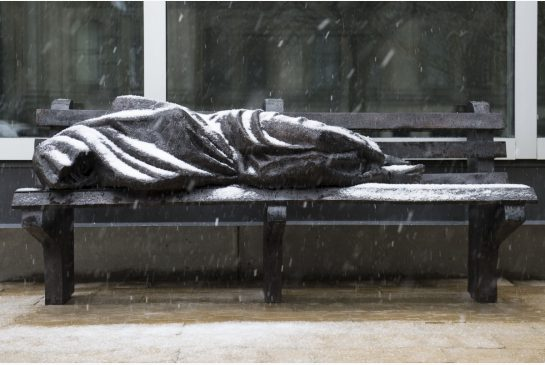 Jesus the Homeless sculpture: